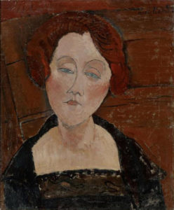 Modigliani, Amedeo (1884-1920): Portrait of Redhead with Blue Eyes Turin Private Coll. *** Permission for usage must be provided in writing from Scala.