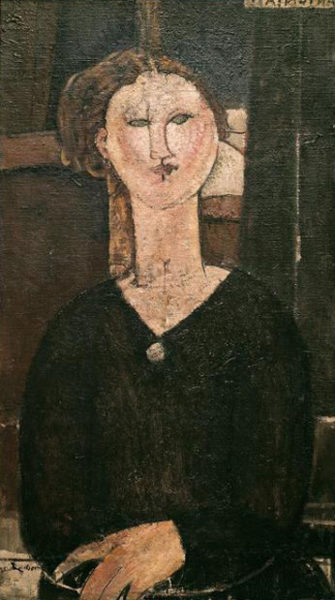 Modigliani, Amedeo (1884-1920): Antonia Paris Orangerie *** Permission for usage must be provided in writing from Scala.